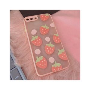ˏˋ🍓°•*⁀➷ strawberry iphone 8p case ˏˋ🍓°•*⁀➷